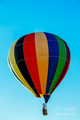 Photograph - Multi Striped Hot Air  Balloon by Robert Bales