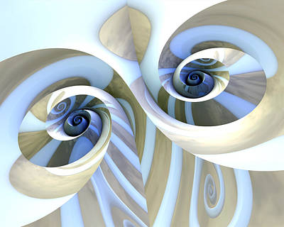 Computer Art Photograph - Multi-swirl by Kevin Trow