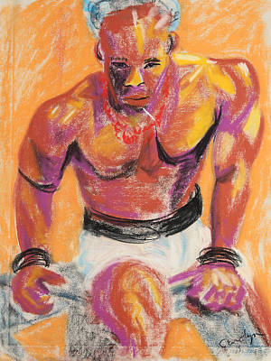 Painting - Multi Talented Strong Man by Asha Carolyn Young
