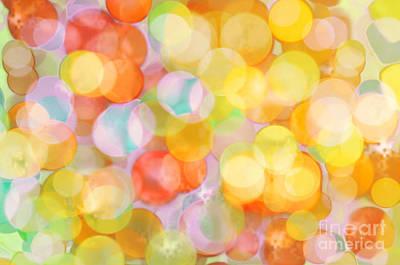 Lighting Effect Digital Art - Multicolor Background by Aleksey Tugolukov