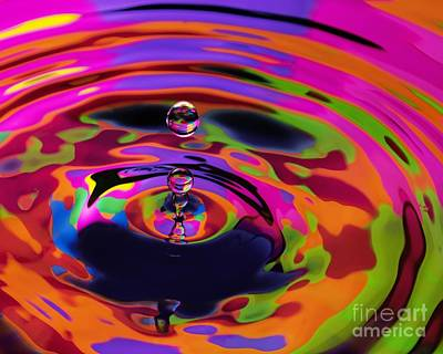 Multicolor Water Droplets 2 Art Print