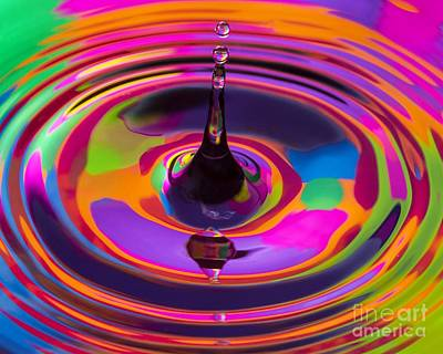 Multicolor Water Droplets 3 Art Print