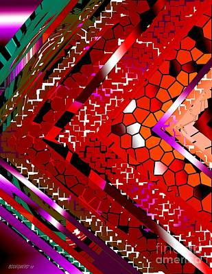 Multicolored Abstract Art Art Print by Mario Perez