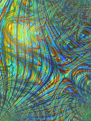 Psychedelic Photograph - Multicolour Abstract Pattern by Alfred Pasieka