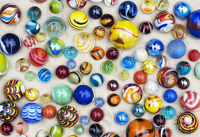 Bright Colours Photograph - Multicoloured Marbles by Tim Gainey