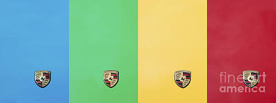 Photograph - Multicoloured Porsche by Tim Gainey