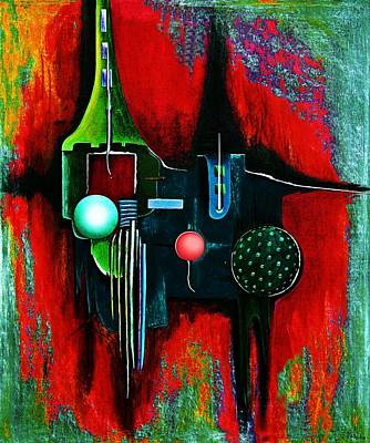 Painting - Multilaier  by Gertrude Scheffler