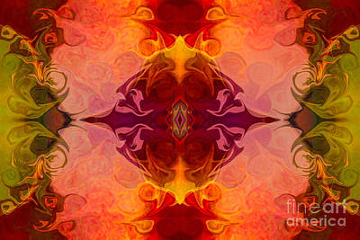 Multilayered Realities Abstract Pattern Artwork By Omaste Witkow Art Print by Omaste Witkowski