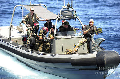 Inflatable Photograph - Multinational Marines And Sailors by Stocktrek Images