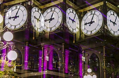 Multiple Clocks Art Print