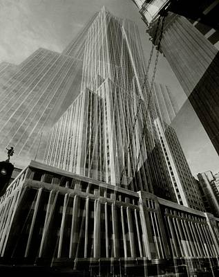Multiple Exposure Of The Empire State Building Art Print