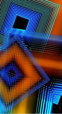 Multiple Lines On Geometrical Art Art Print by Mario Perez