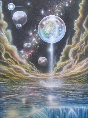 Painting - Multiverse Begets Multiverse by Sam Del Russi