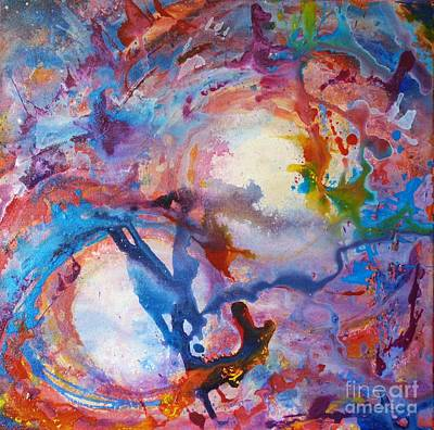 Deep Space Art Painting - Multiverse by Jacki Wright