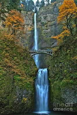 Photograph - Multnomah Double Plunge by Adam Jewell