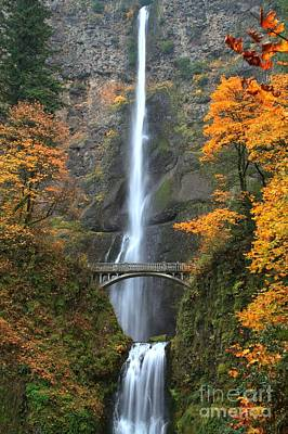 Photograph - Multnomah Fall Decorations by Adam Jewell