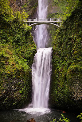Photograph - Multnomah Falls And Bridge by Athena Mckinzie