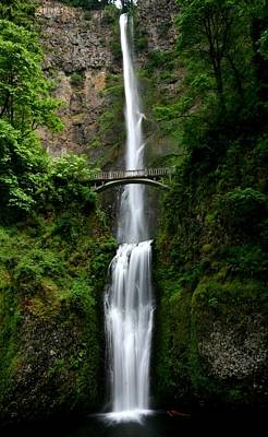 Columbia River Photograph - Multnomah Falls At Columbia River Gorge by Jetson Nguyen