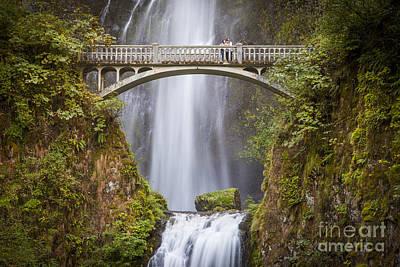 Photograph - Multnomah Falls Bridge by Brian Jannsen