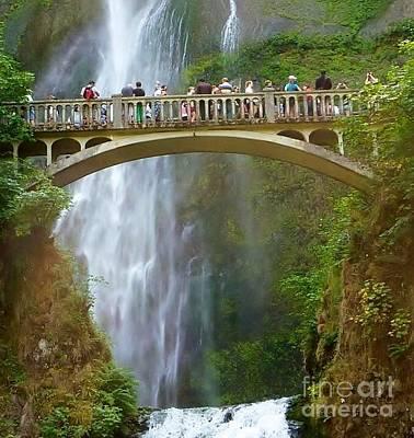 Photograph - Multnomah Falls Bridge by Susan Garren