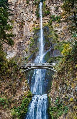 Multnomah Falls - Waterfall Photograph Art Print by Duane Miller