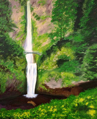 Painting - Multnomah Falls by Dustin Miler