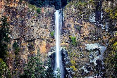 Photograph - Multnomah Falls East Of Portland Or by Michael Rogers