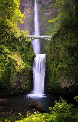 Photograph - Multnomah Falls In Oregon by Athena Mckinzie