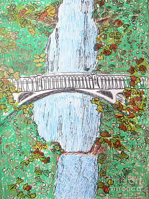 Painting - Multnomah Falls by Marcia Weller-Wenbert