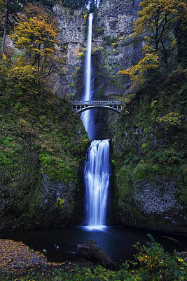 Multnomah Falls Waterfall Photograph - Multnomah Falls by Mark Kiver