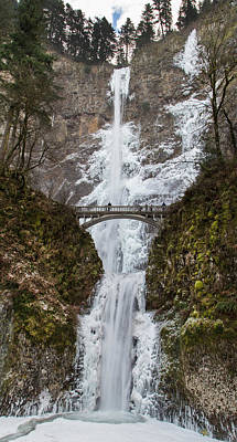 Multnomah Falls Waterfall Photograph - Multnomah Falls On Ice by Angie Vogel