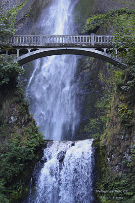 Photograph - Multnomah Falls by Pat McGrath Avery