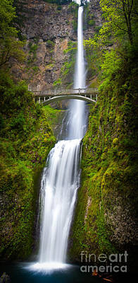 Waterfall Photograph - Multnomah Panorama by Inge Johnsson