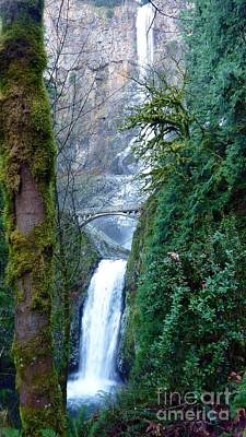 Photograph - Multnomah Water Falls Peek by Susan Garren