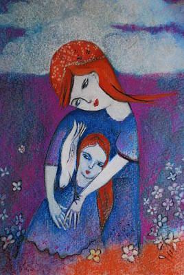 Mum Bird And Me Art Print by Deirdre Gillespie