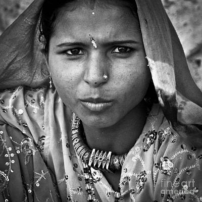 Photograph - Mumbai Street Bw by Derek Selander