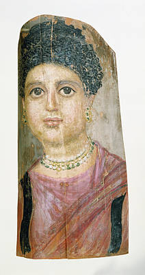 Encaustic Painting - Mummy Portrait Attributed To Malibu Painter by Litz Collection