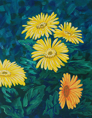 Painting - Mums by Cheryl Fecht