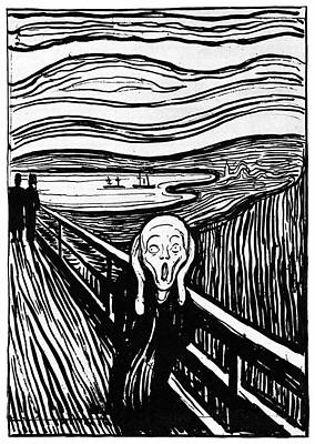 Edward Munch Painting - Munch The Scream, 1895 by Granger