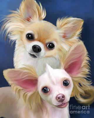 Mixed Media - Munchie And Tuffy by Catia Lee