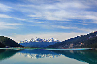 Muncho Lake Bc Canada Print by Leslie Kirk