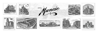 Muncie Indiana A Art Print by Thomas Keesling
