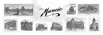 Muncie Indiana B Art Print by Thomas Keesling