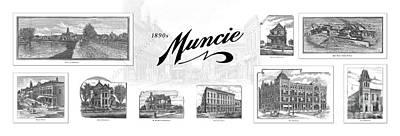 Muncie Indiana B Print by Thomas Keesling