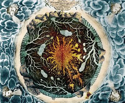 Photograph - Mundus Subterraneus 1664 by Science Source