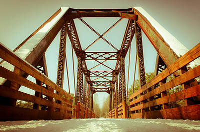 Photograph - Munger Trail Crossing by Mark David Zahn