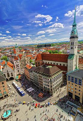 Photograph - Munich Cityview by Juergen Sack