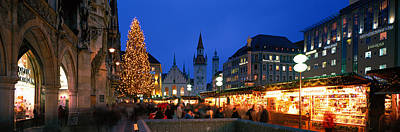 Christmas Market Photograph - Munich, Germany by Panoramic Images