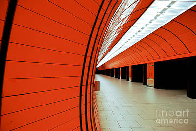 U-bahn Photograph - Munich Subway II by Hannes Cmarits