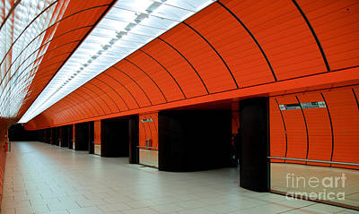 Marienplatz Photograph - Munich Subway IIi by Hannes Cmarits